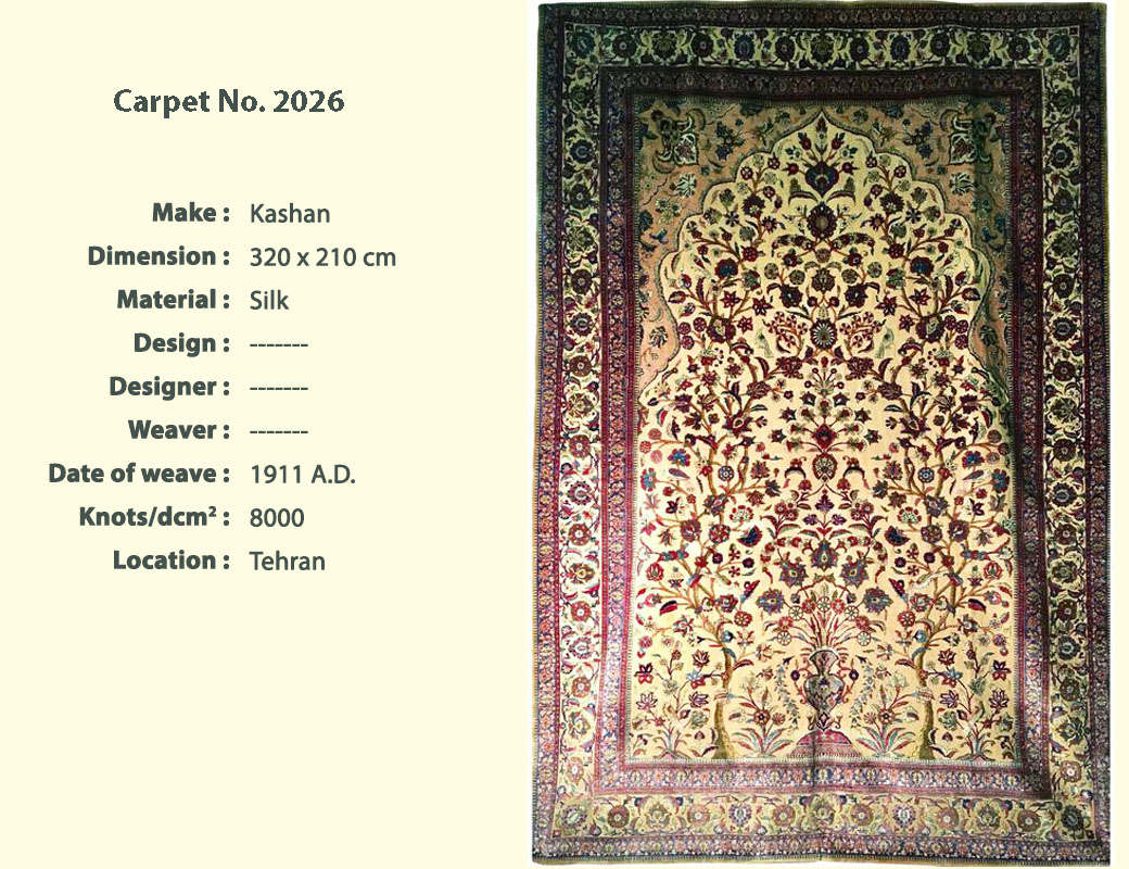 Kashan antique rug Carpet No.2026